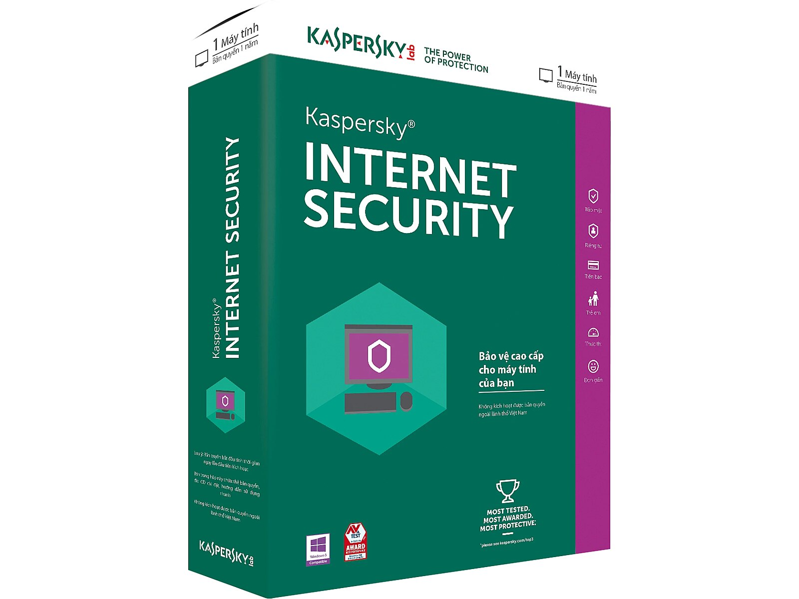 Kaspersky Lab Internet Security, 1 Year, 2 Devices..