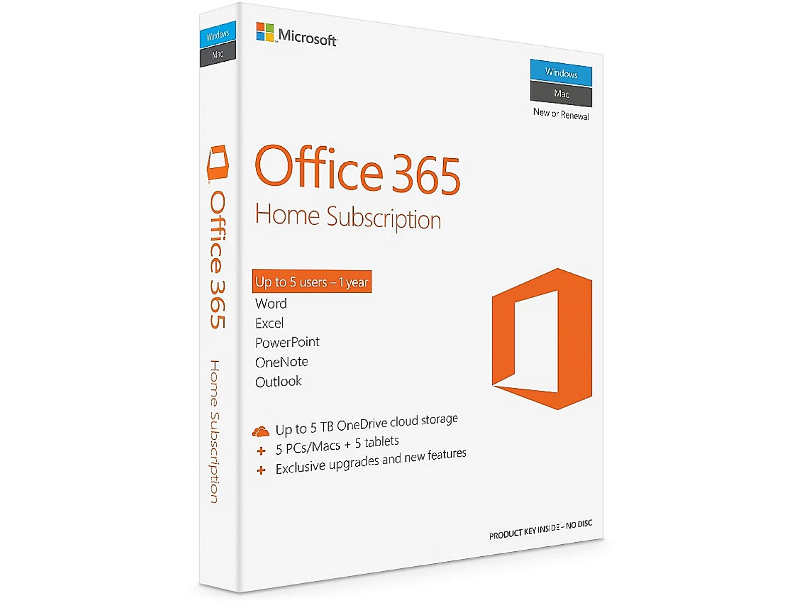 Microsoft Office 365 Home for Mac, ENG, 1 year sub..