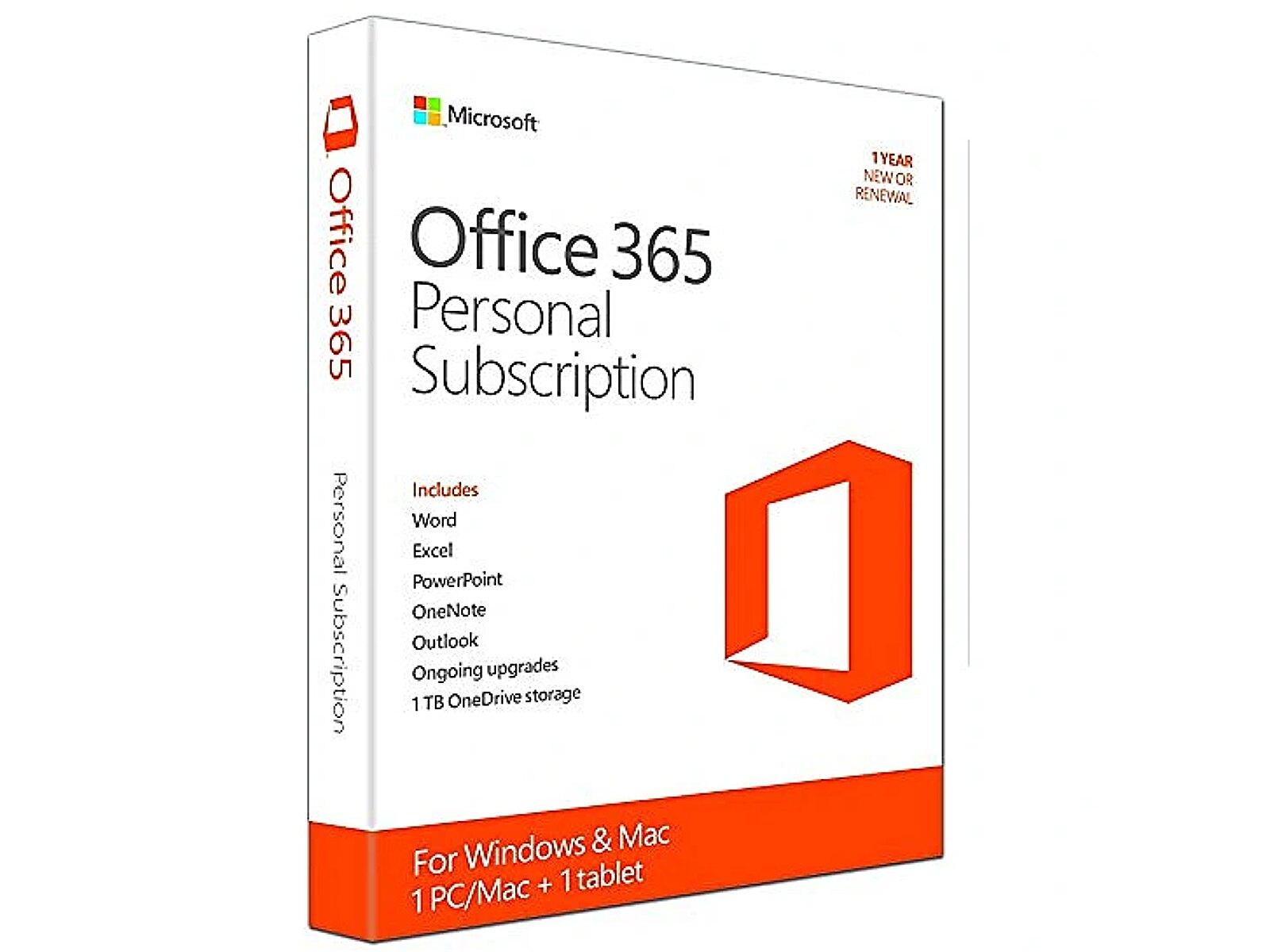 Microsoft Office 365 Personal, 32/64bit, ENG, 1 ye..