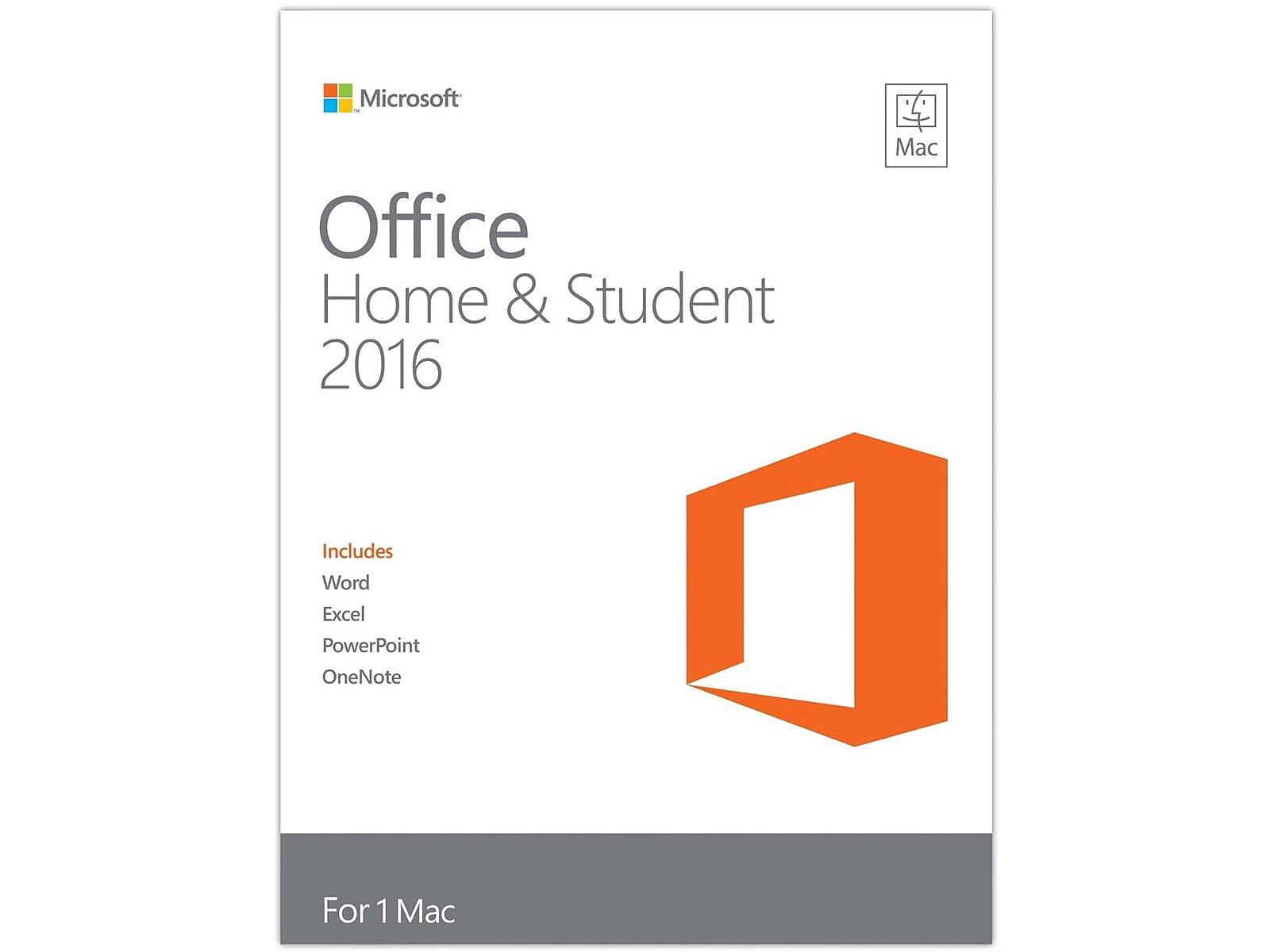 Microsoft Office for Mac Home & Student 2016, Engl..