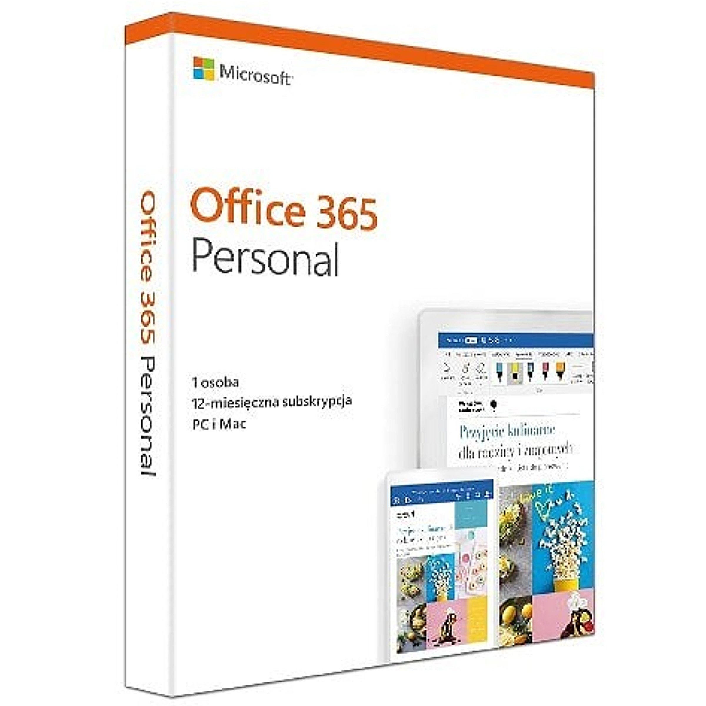 Microsoft Office 365 Personal PL Box P4 Subscripti..