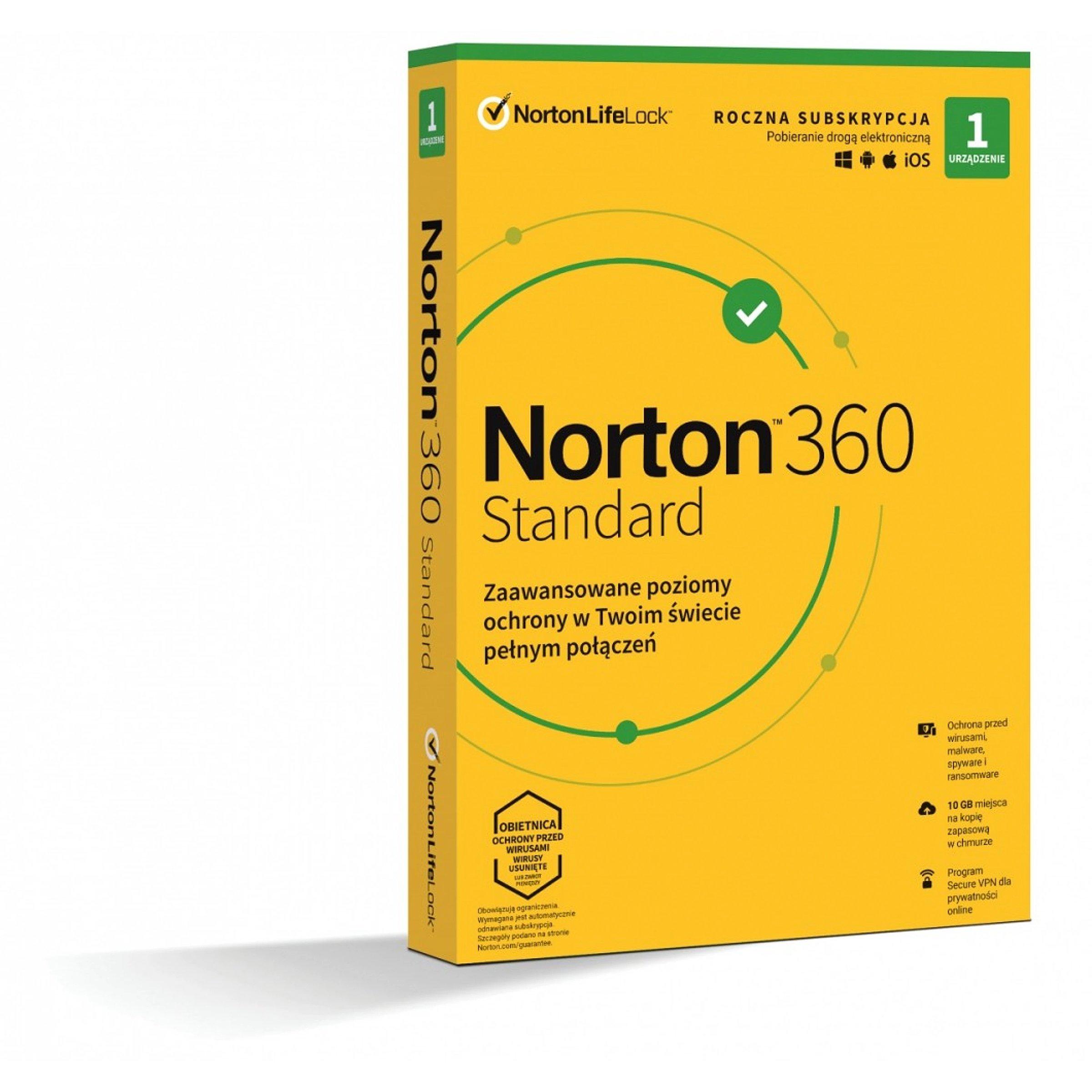 Symantec 360 Standard 10GB PL 1 user, 1 devices, 1..
