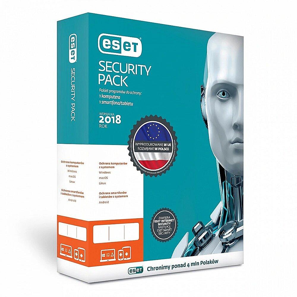 ESET Security Pack Box 1+1 1Y PL ESP-N-1Y-2D